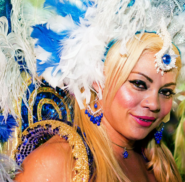 Brazilian woman celebrating Carnival