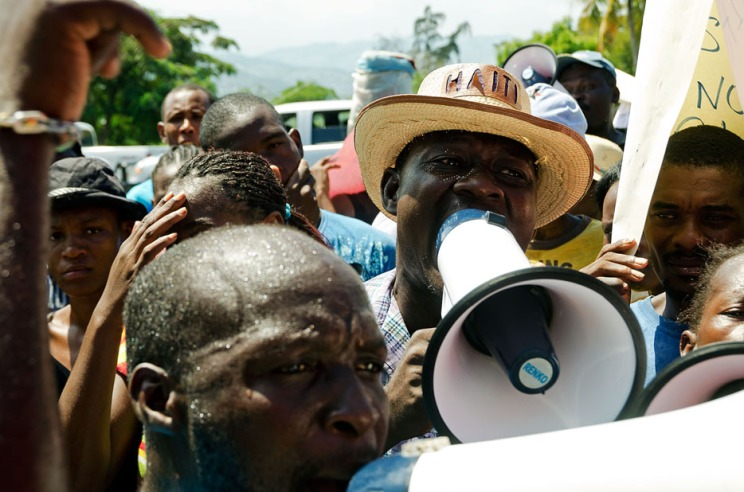 Haitians protest in Port-au-Prince in demand for better housing