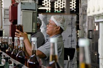 The Borgoe rum factory in Paramaribo, Suriname
