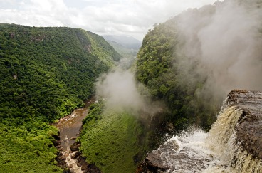The Kaieteur Falls in the interior of Guyana
